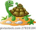 Cute cartoon turtle 27839184