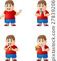 set of boy eating junk food 27839206