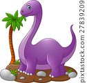 Cute dinosaur cartoon 27839209