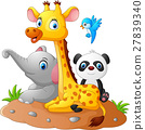 Happy safari animal cartoon 27839340