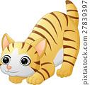 Cute cat cartoon 27839397