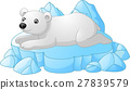 White Polar Bear cartoon 27839579