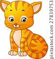 Cute cat cartoon 27839753