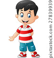 Cute boy standing 27839939