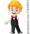 cartoon Boy Wearing a Tuxedo 27839942