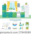 kitchen, interior, vector 27840089