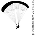 paragliding silhouette 27841125