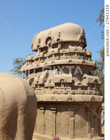 "Five-Lata (India) of World Heritage ""Mahabalipuram Building Group"" 27841358"