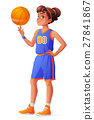 Vector young pretty basketball player girl 27841867