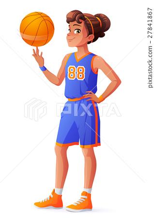 Vector young pretty basketball player girl 27841867