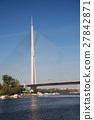 Pylon bridge over Ada, Belgrade - Serbia 27842871
