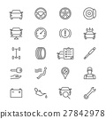 Auto service thin icons 27842978