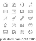 Entertainment thin icons 27842985