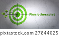 Medicine concept: target and Physiotherapist on 27844025