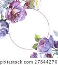 watercolor flower rose 27844270