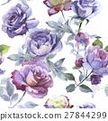 watercolor, flower, rose 27844299