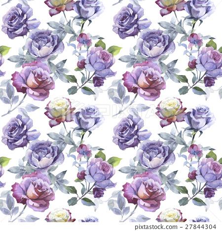 Wildflower rose flower pattern in a watercolor 27844304