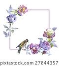 watercolor flower rose 27844357
