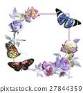 watercolor flower rose 27844359