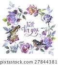 watercolor, flower, rose 27844381