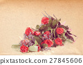 watercolor effect bouquet of fresh red roses 27845606
