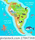 South America Mainland Cartoon Fauna Species  27847368