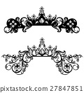 royal crown and floral decor vector design 27847851