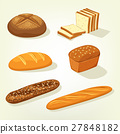 Baguette and bricks of toast or butterbrot bread 27848182