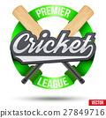 Cricket Sport Label 27849716