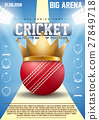 Poster Template of Cricket sports 27849718