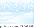 Clean Winter Landscape with Frozen Lake 27849966