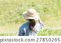 野原の女性 27850265