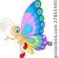 밑그림, 나비, 벡터 27855493