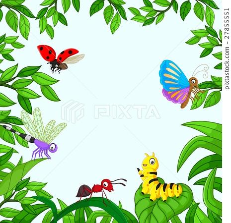 Cartoon Insect In The Garden Stock Illustration 27855551 Pixta