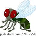 Cute little cartoon flies 27855558