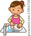 矢量 洗 女人 27855750