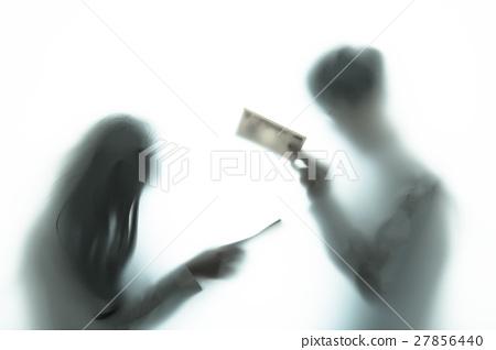 People silhouette negative image 27856440