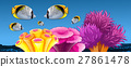 Fish and coral reef under the sea 27861478