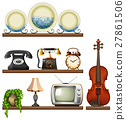 Vintage collection with entertainment devices 27861506