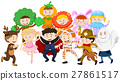 Kids dressing up in different costumes 27861517