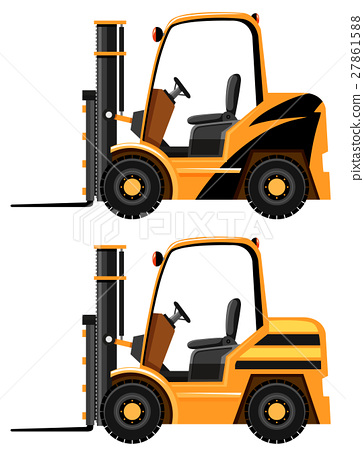 Two designs of forklift truck 27861588