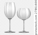 Two different types of wine glasses 27861600