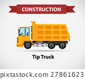 Construction icon for tip truck 27861623