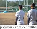 야구 선수들의 연습 풍경 27861869