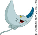 Cartoon funny stingray 27861966