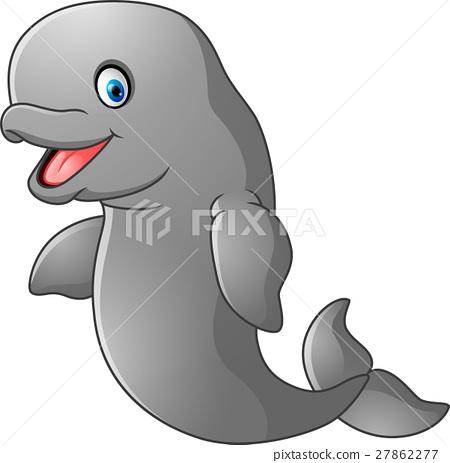 Cute cartoon dugong 27862277