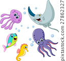 Cute sea life cartoon collection 27862327