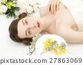 婚禮 成熟的女人 一個年輕成年女性 27863069