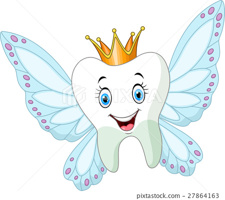 Cute tooth fairy flying 27864163