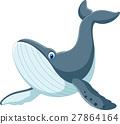 Happy blue whale cartoon 27864164